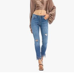Free People Great Heights Frayed Skinny Jeans | 27